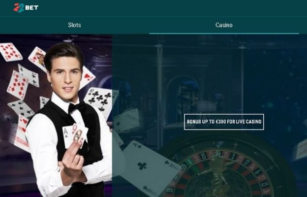 welcome packages 22bet casino